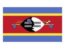 Flag of Eswatini stock illustration