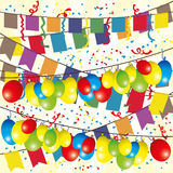 Vector illustration. Flags and balloons. Stock Photos