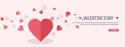Vector illustration. Flat background with hand and heart. Love and hearts. Valentines day. Be my valentine. 14 february. Message stock illustration