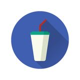 Vector illustration of flat fast food icon Stock Images