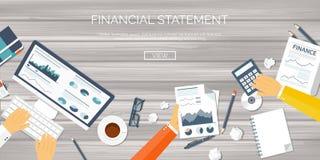 Vector illustration. Flat header. Online news. Newsletter information. Business market information. Financial report.