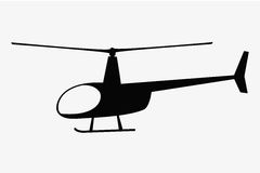 Vector illustration of flat helicopter Stock Images