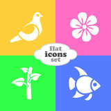 Vector illustration of flat icons. Stock Photos