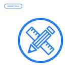 Vector illustration of flat Line icon. Graphic design concept of creative mind. stock illustration