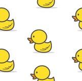Little  yellow Duck seamless pattern stock illustration