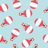 Hot air balloon  with Santa Claus pattern Royalty Free Stock Photography