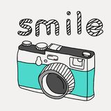 Hand drawn retro camera Royalty Free Stock Images