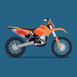 Vector illustration of a flat sports enduro bike Stock Photos