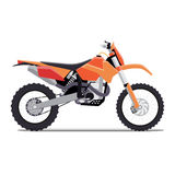 Vector illustration of a flat sports enduro bike Stock Image