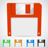 Vector illustration of a floppy disk Royalty Free Stock Photo