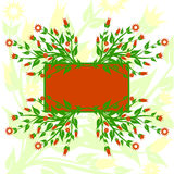 vector illustration of floral background Stock Photography
