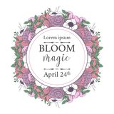 Vector illustration with a floral branch in spring for Wedding, anniversary, birthday and party. Stock Photos