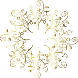 Vector illustration floral decoration. Set of gold floral ornaments illustration. Vector file Royalty Free Stock Photos