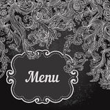 Vector illustration of floral design on blackboard Stock Images