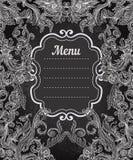 Vector illustration of floral design on blackboard Royalty Free Stock Image