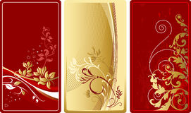 Vector illustration with floral design elements. Set of abstract backgrounds. Design elements Stock Photo