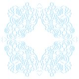 Floral paper frame. Vector illustration of floral frame on white background Royalty Free Stock Photography