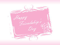 Vector illustration, floral Friendship day card 7 Royalty Free Stock Photography