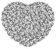 Vector illustration of floral heart Stock Photo
