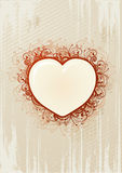 Vector illustration of floral heart Stock Images