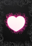 Vector illustration of floral heart Royalty Free Stock Photos