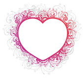 Vector illustration of floral heart frame Stock Photos