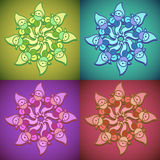 Vector illustration of floral ornament Stock Image