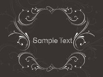 Vector illustration of floral sample text Royalty Free Stock Photos