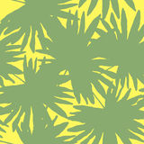 Vector illustration of floral seamless. Green tropical palm leav Royalty Free Stock Images
