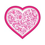 Floral valentine heart. Vector illustration of  floral valentine heart  isolated on white background Royalty Free Stock Image