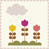 Vector Illustration of flower Stock Image