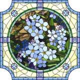 Vector illustration of flower blue forget-me-not. Stock Images