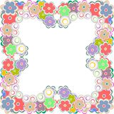 Vector illustration of a flower border Royalty Free Stock Image