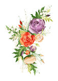 Vector illustration of flower bouquet Stock Images