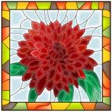 Vector illustration of flower chrysanthemum. stock illustration