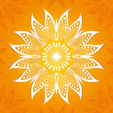 Vector illustration. Flower circular pattern. A stylized drawing. Mandala. Stylized lotus flower Royalty Free Stock Images