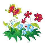 Vector illustration of a flower fields. Vector illustration of a sun flower fields Stock Photography