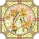 Vector illustration of flower orange flax. Stock Photos