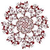 vector  illustration of a flower ornament Stock Photography