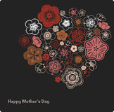 Vector Illustration of flower text Stock Photography