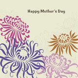 Vector Illustration of flower text Stock Images