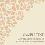 Vector Illustration of flower text Royalty Free Stock Image