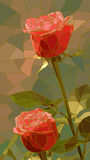 Vector illustration of flowers red roses. Royalty Free Stock Photography