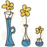 Vector illustration. Flowers in vases. set Stock Images