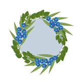 Vector illustration flowers wreath on white background. Beautiful vector illustration flowers wreath isolated on white background Royalty Free Stock Photos