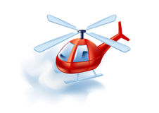 Helicopter. Vector illustration of  a flying helicopter in the sky Stock Photos