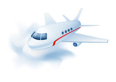 Plane. Vector illustration of  a flying plane in the sky Royalty Free Stock Photography