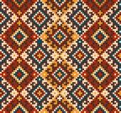 Vector illustration of Folk seamless pattern ornament. Ethnic ornament Royalty Free Stock Photography