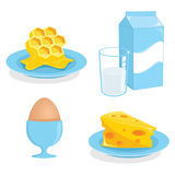 Vector Illustration Of Foods Stock Image