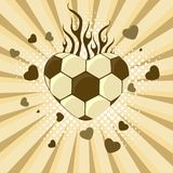 Vector illustration of  football. Royalty Free Stock Photos